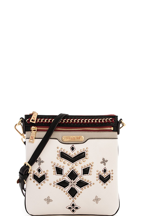 11213n white nicole lee carine crossbody bag