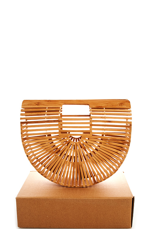 88788n Natural Hot Trendy Bamboo Handbag