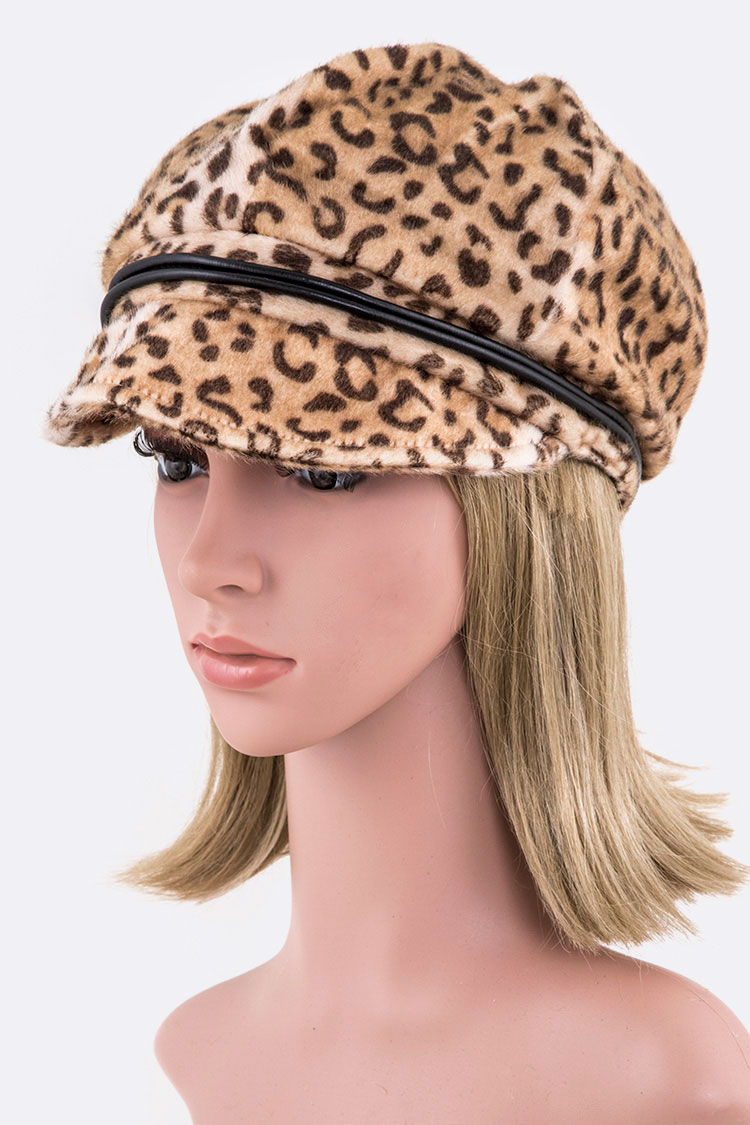 8ea67ebd353b Faux Fur Leopard Cabbie Hat. Home · Fashion Jewelry · Hats & Gloves ·  Please upgrade to full version of Magic Zoom Plus™