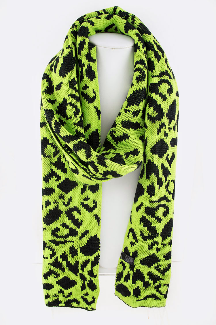 9e540986ad Neon Animal Print Iconic Intarsia Scarf. Home · Fashion Jewelry · Scarves ·  Please upgrade to full version of Magic Zoom Plus™