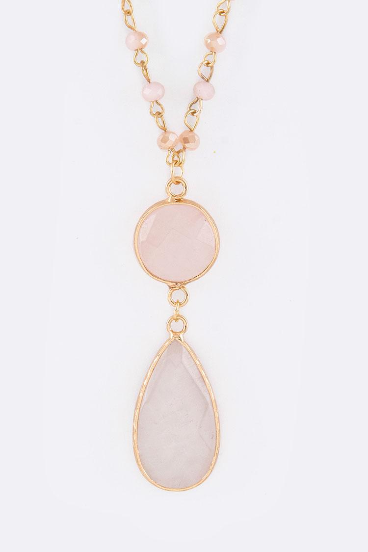 full set teardrop pendant. PINK Full Set Teardrop Pendant Choice Handbag