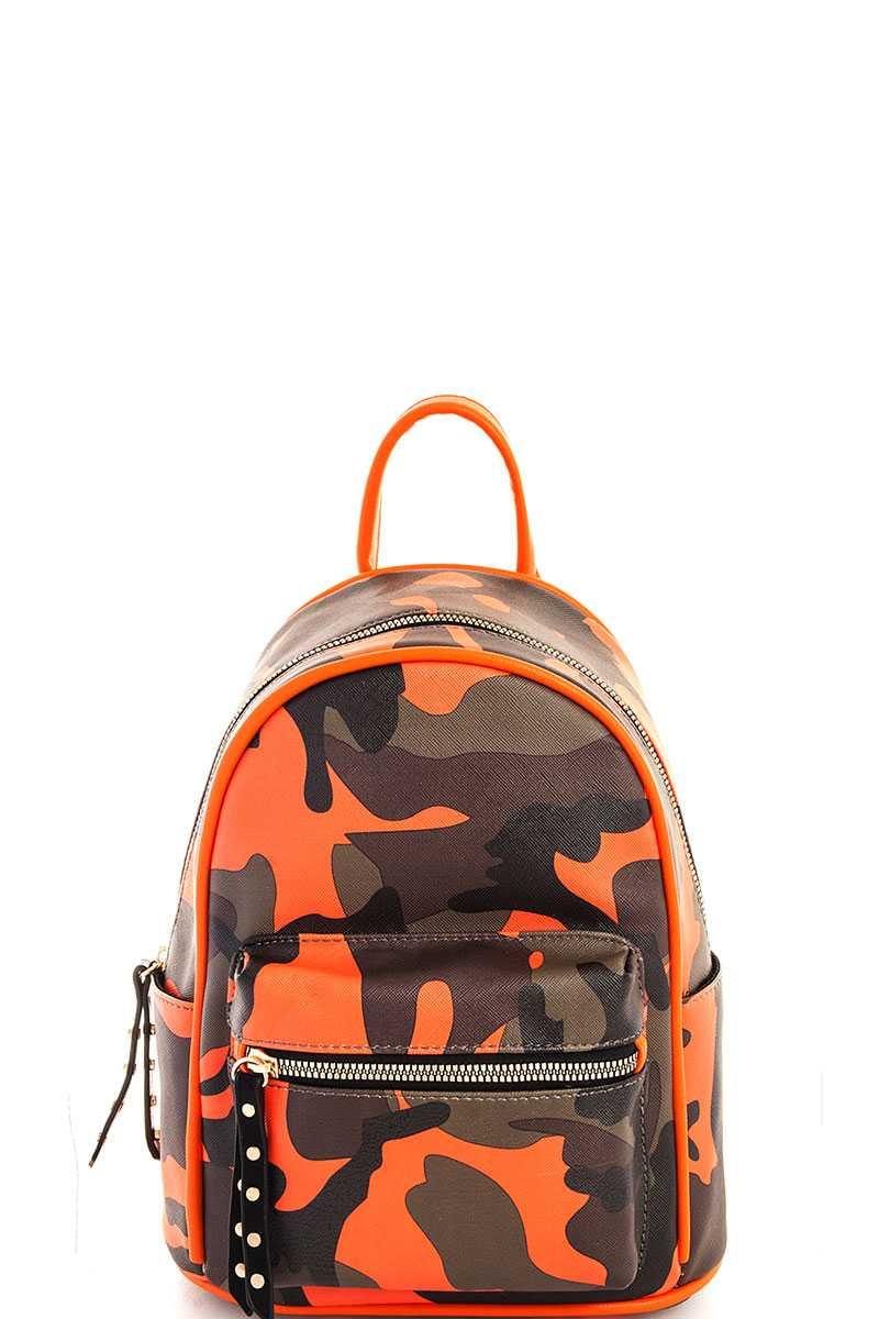 198b052ddb2 Faux Leather Camo Backpack- Fenix Toulouse Handball