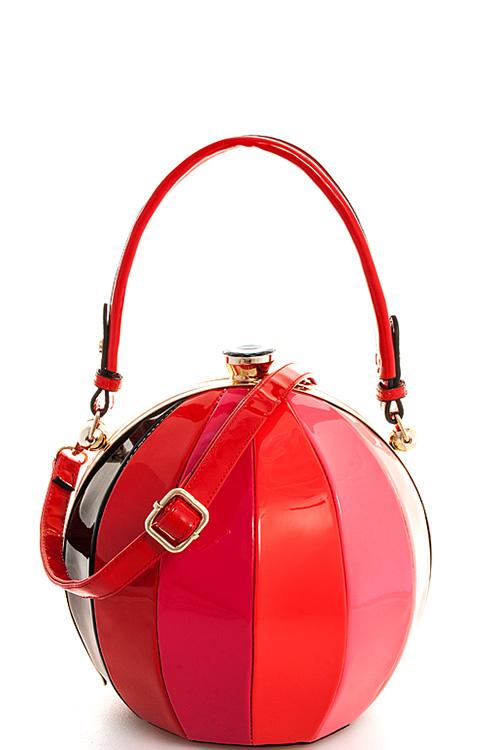 bbb705 multi designer trendy multi color ball shape satchel