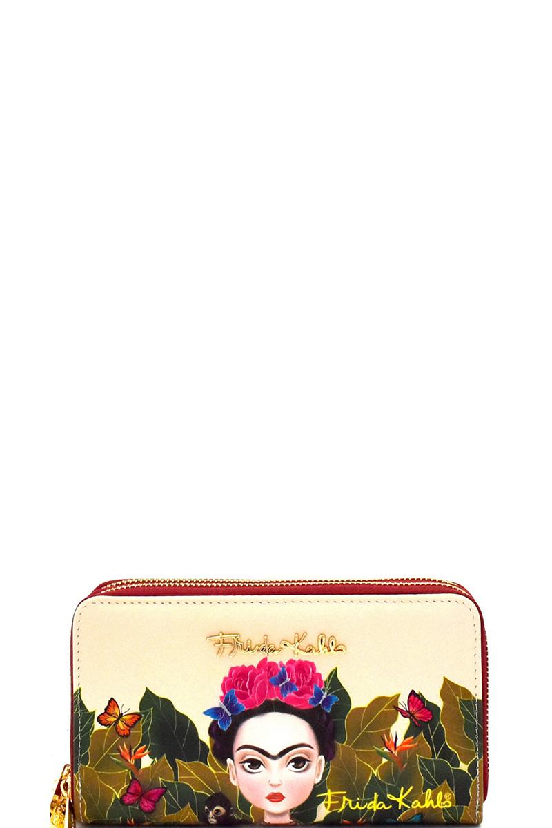 831c859853392 Authentic Cartoon Version Frida Kahlo Double Zip Wristlet Wallet. Home ·  Wallets · Zip Around · Please upgrade to full version of Magic Zoom Plus™