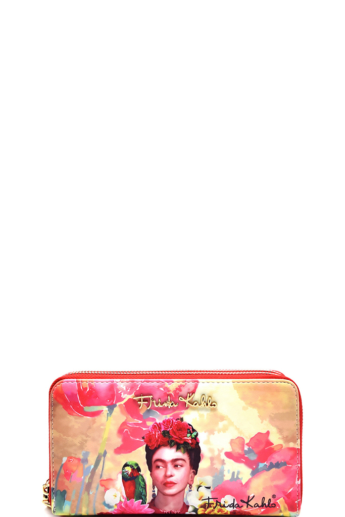 c1add2c99eecd Authentic Frida Kahlo With Parrot In Flowers Double Zipper Wristlet Wallet.  Home · Wallets · Zip Around · Please upgrade to full version of Magic Zoom  Plus™