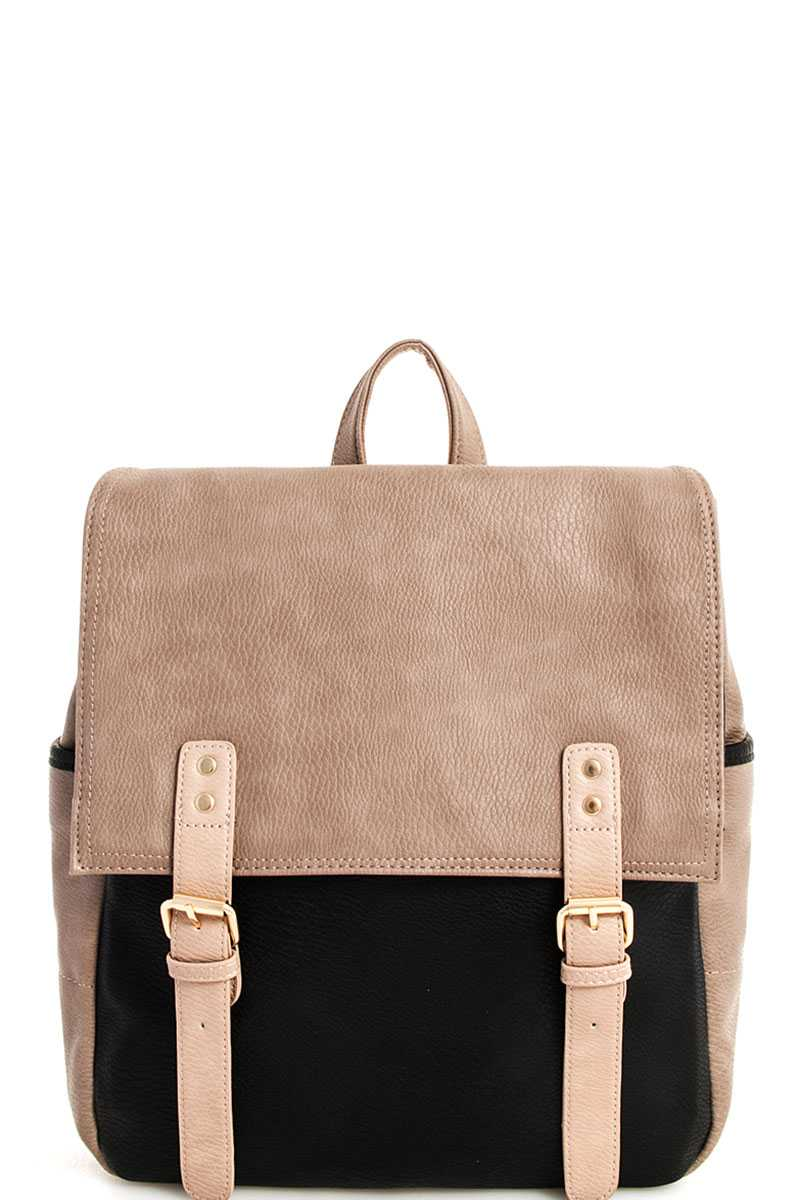 Bgw42078 N Black Taupe Stylish Designer Two Tone Backpack Please Upgrade To Full Version Of Magic Zoom Plus