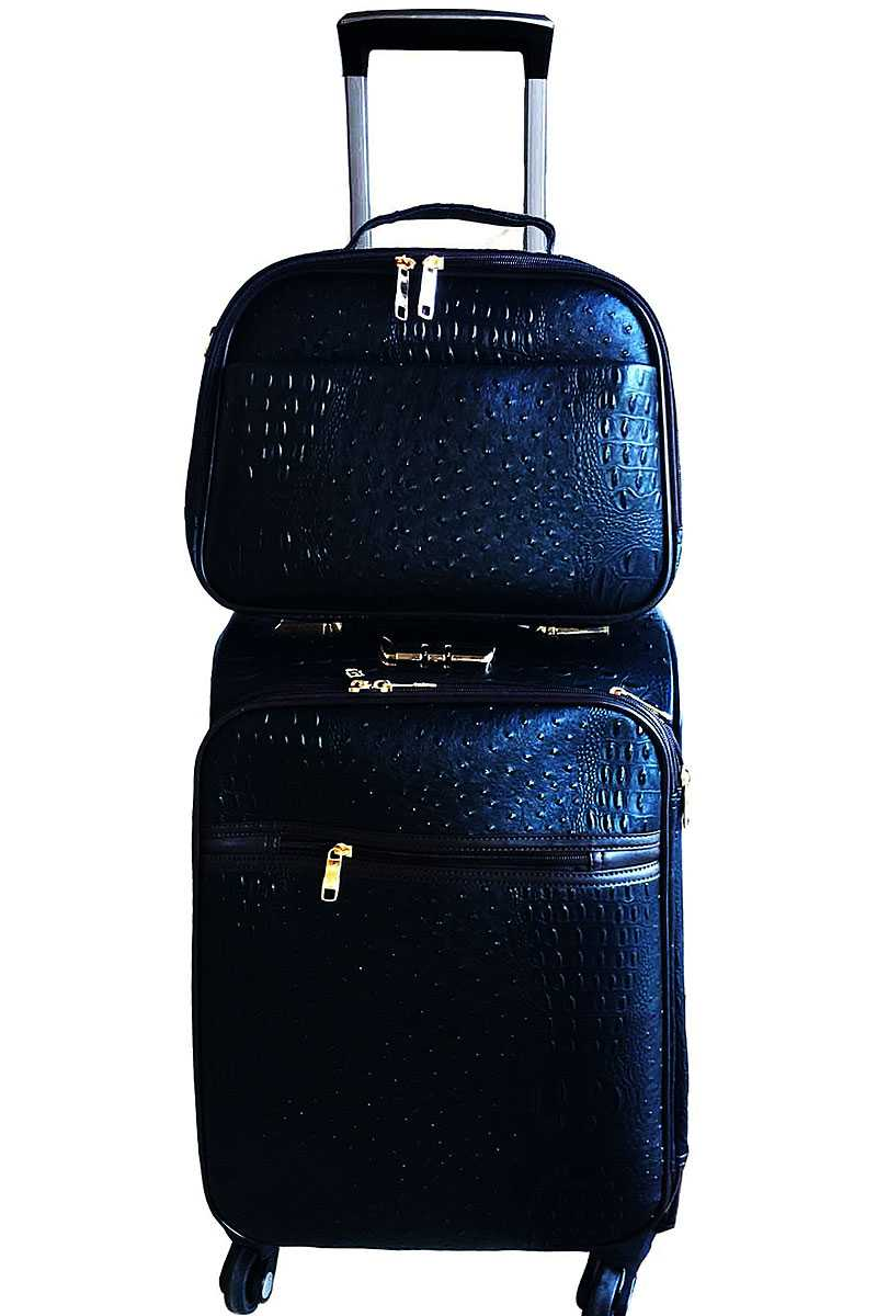 Blgot01 N Cognac 2in1 Designer Fashion Croco Travel