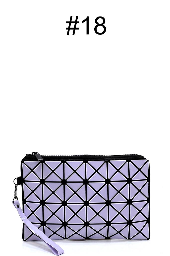 2dd351b39e9 BPT0001-Z #18 Sophisticated Prism Geometric Clutch Compact Bag
