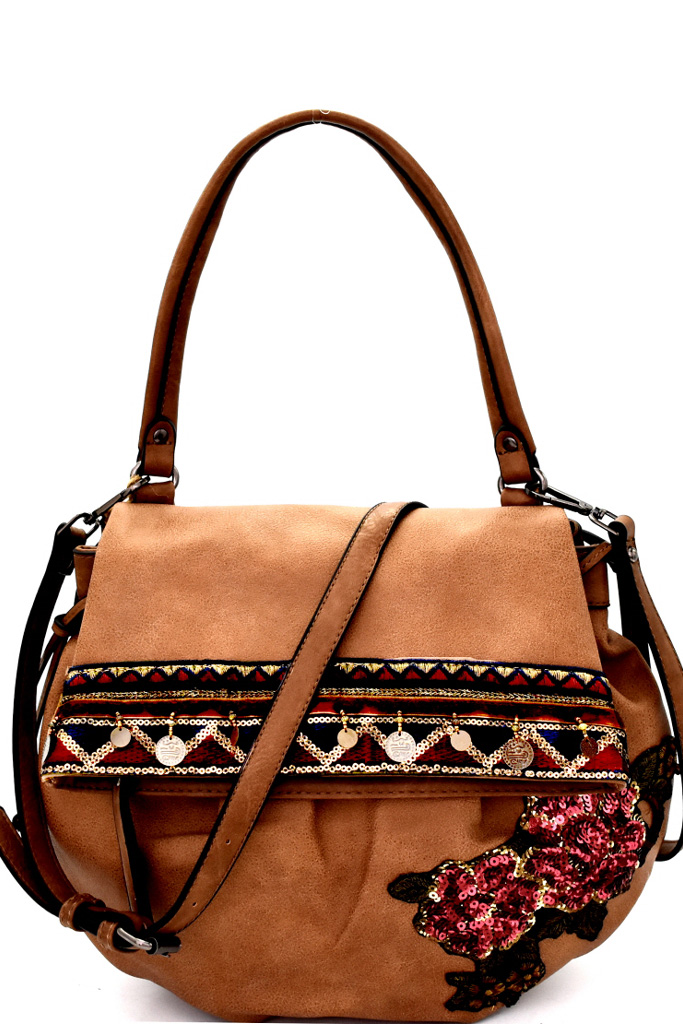 Sequin Embellished Flower Patch Bohemian Bag. Home · Flowers · Please  upgrade to full version of Magic Zoom Plus™