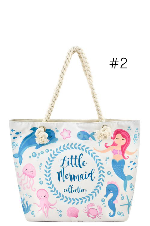 c653b377c Designer Mermaid Canvas Tote Bag. Home · Fashion Handbags · Please upgrade  to full version of Magic Zoom Plus™