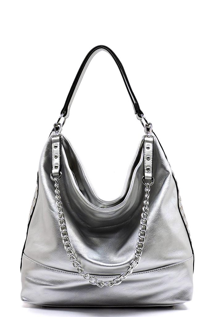 c425999346d FL1297Z-T Silver Fashion Chain Strap Shoulder Bag Hobo