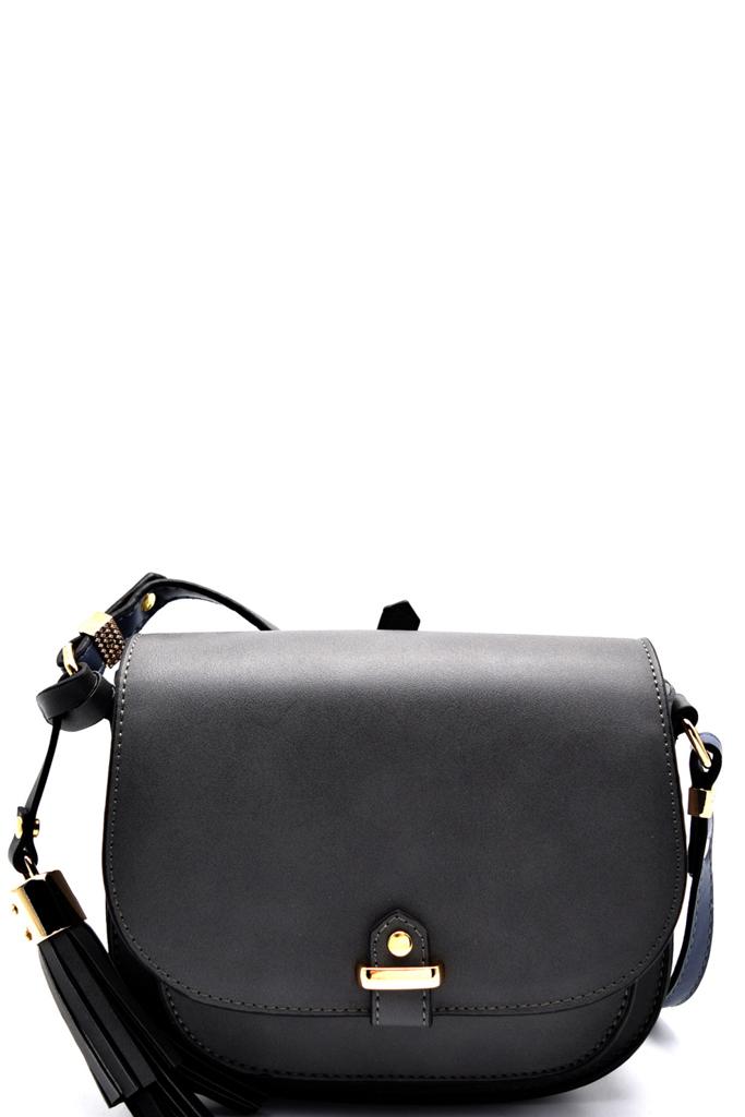 gt46435t grey trendy mono tone colored fashion cross body bag