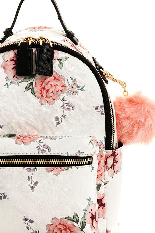 e99dbf16734c B17102030-N WHITE Cute Princess Pompom Mini Backpack