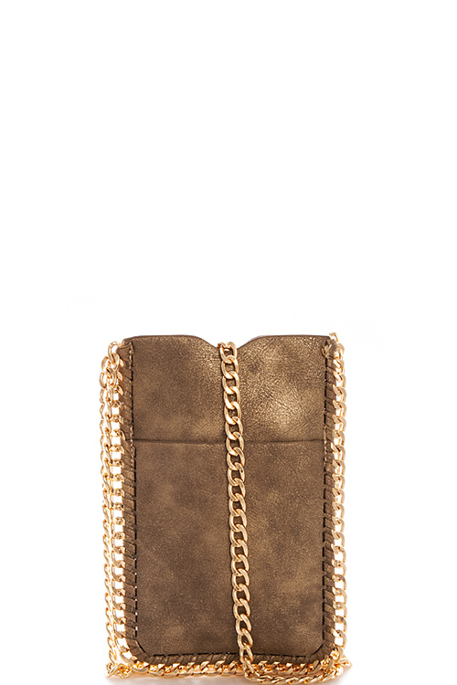 designer fashion be911 2b1f5 HD2391-N M.GOLD Trendy Cute Chic Cell Phone Crossbody Bag