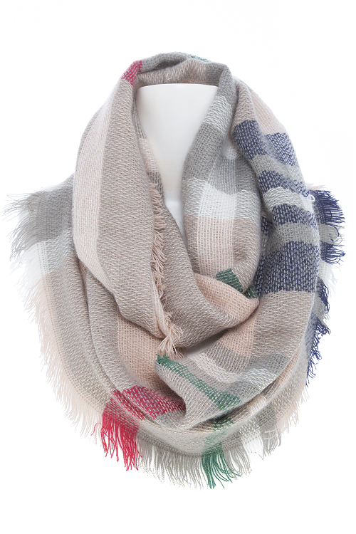 666fc35e79fee Plaid Fringed Infinity Scarf. Home · Fashion Jewelry · Scarves · Please  upgrade to full version of Magic Zoom Plus™
