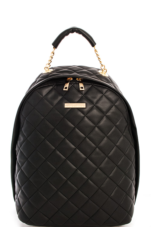 LM2576N BLACK Alba NX Quilted Chic Backpack
