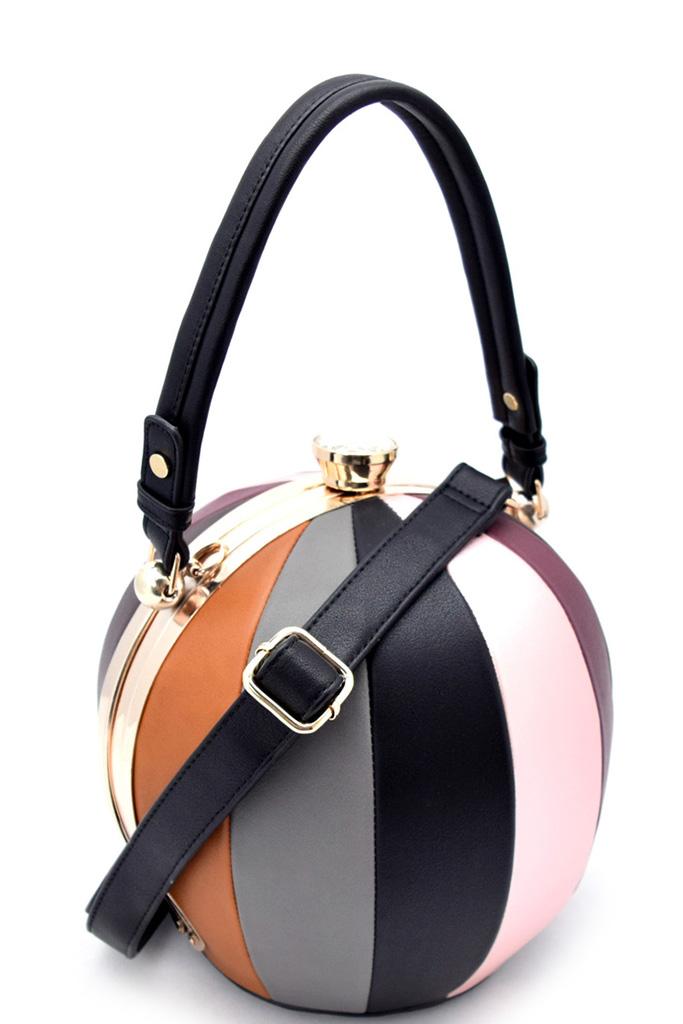 Lw2038 S Black Unique Ball Shape Fashion Bag