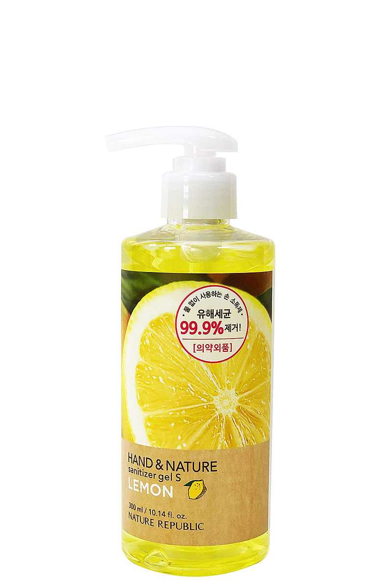 Na Sanitizer 300 Lemon Nature Republic Scented Hand Sanitizer Gel