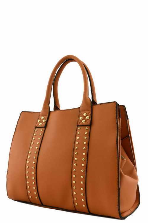 Ock62141q Brown Designer 3 Compartment Doctor Bag
