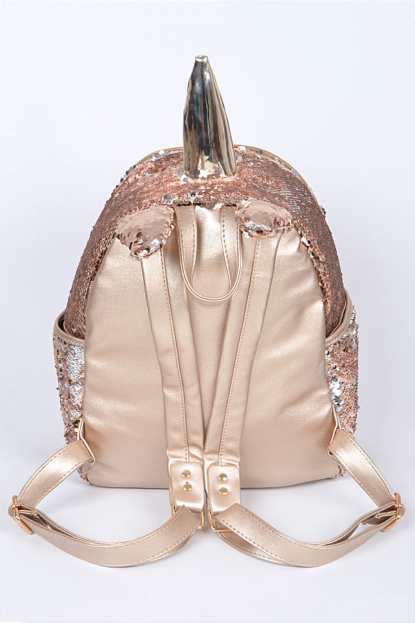 Bpp6759 R Multicolor Sequin Unicorn Backpack