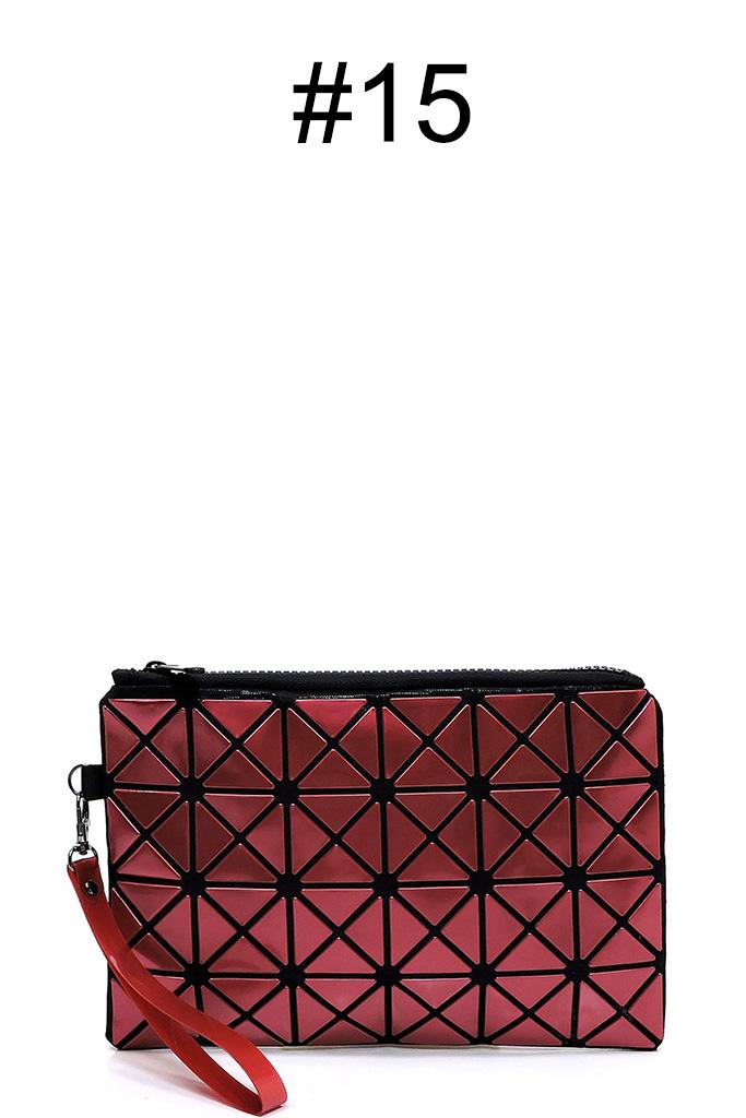 e542e40c86e BPT0001-Z #15 Sophisticated Prism Geometric Clutch Compact Bag