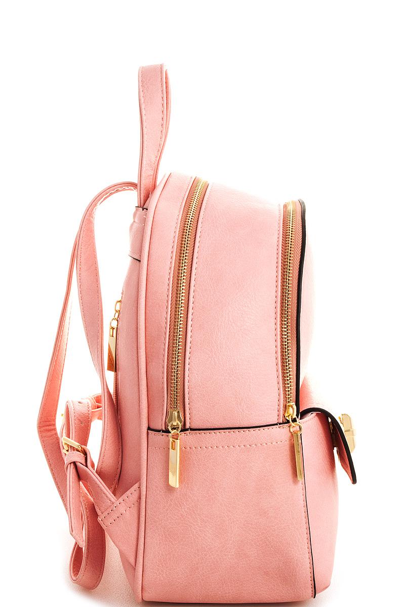 d4a86a961cfb QM1309A-N LIGHT PINK Cute Princess Designer Backpack