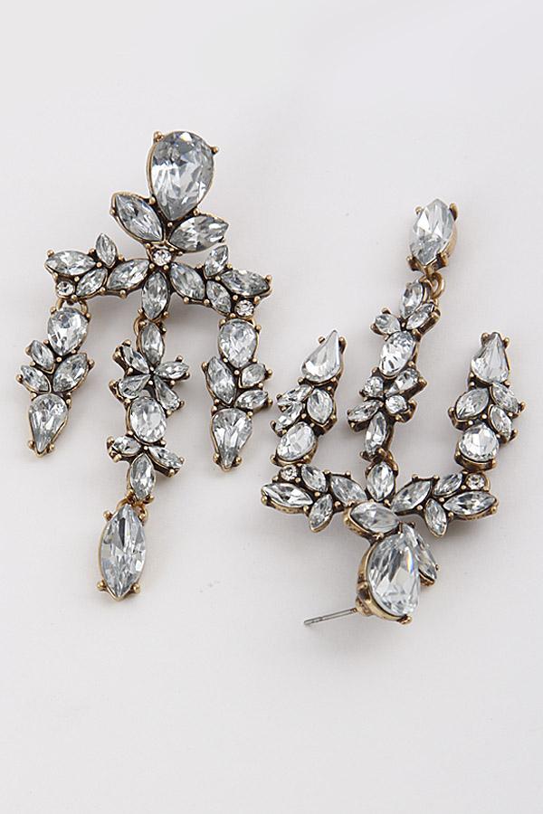 Antique Style Rhinestone Earrings