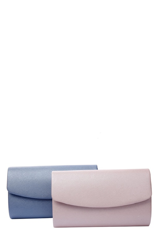Shining Faux Leather Clutch