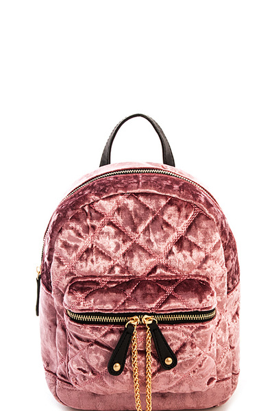 Cute Suede Quilted Princess Backpack