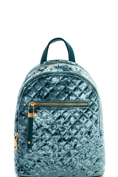 Princess Hot Trendy Velvet Backpack