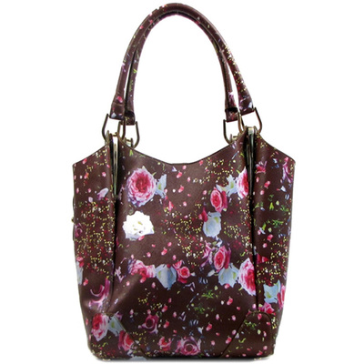 Flower Printed 2 in 1 Tote Bag