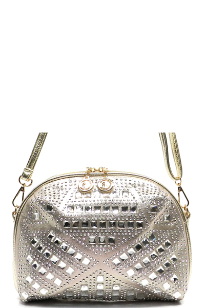 Bling Stone Woven Clutch