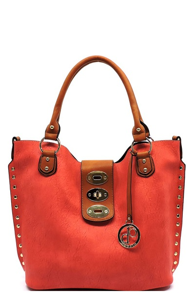 Fashion Twist Lock 2-in-1 Satchel
