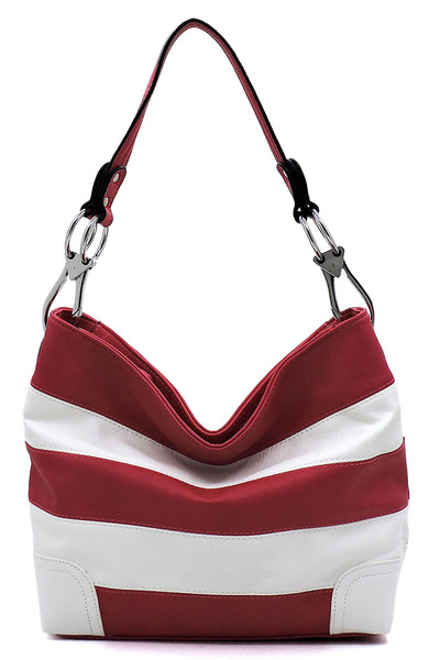 Fashion Striped Classic Bucket Bag