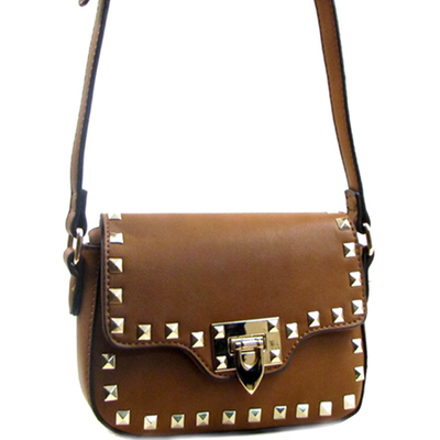 Stud Trim Decorated Fashion Cross Body Bag