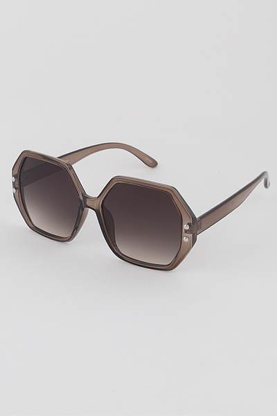 Tone Down Hexagonal Sunglasses