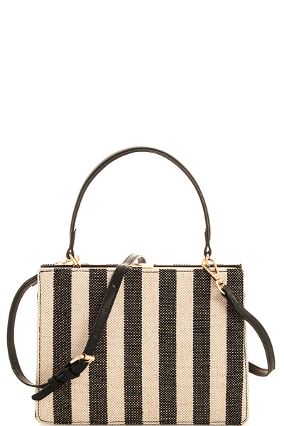 Street Level Straw Woven Chic Crossbody