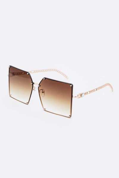 Chain Temple Iconic Oversize Sunglasses Set