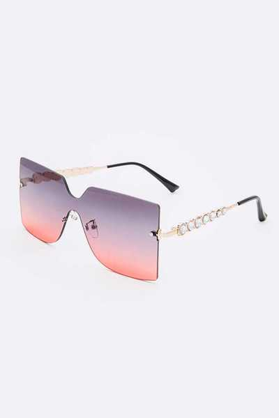 Crystal Temple Square Sunglasses Set