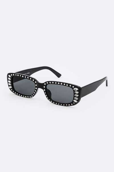 Crystal Accent Iconic Sunglasses Set