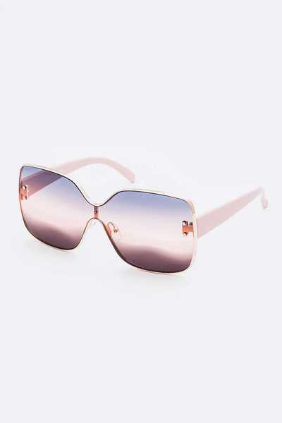 Mix Tint Oversize Square Sunglasses Set