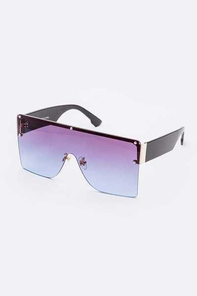 Shield Inspired Mix Tint Iconic Sunglasses Set