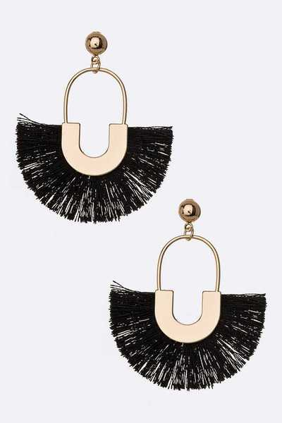 Petite Tassel Fan Iconic Earrings