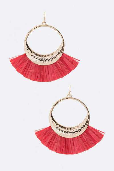 Tassel Round Drop Earrings