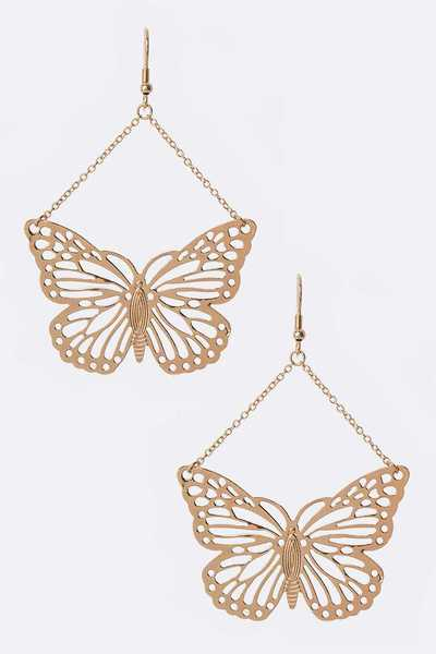Butterfly Filigree Drop Earrings