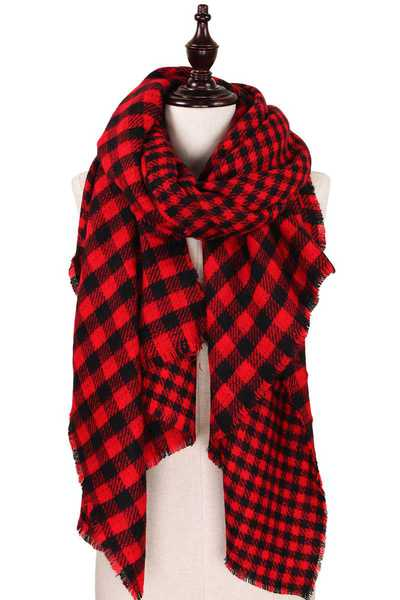 DOUBLE SIDE BUFFALO CHECK SCARF