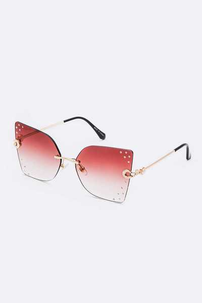 Crystal Accent Butterfly Iconic Sunglasses Set