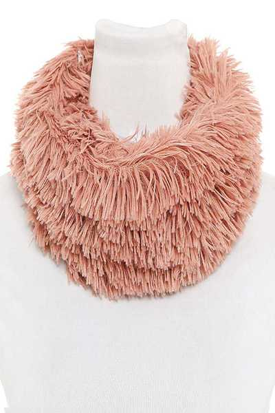 Faux Fur Fluffy Infinity Scarf Set