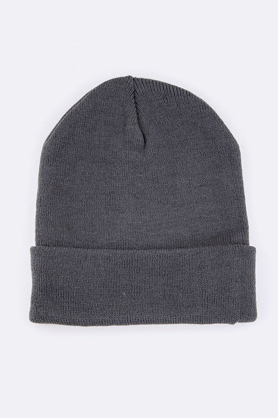 Solid Color Cuff Beanie