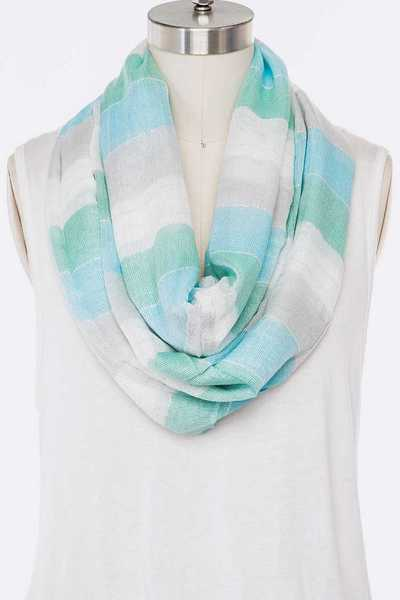 Block Color Oversize Infinity Scarf